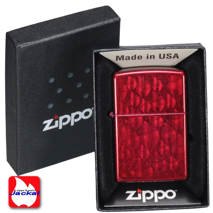 ZIPPO/Iced Flame Candy Apple Red  #29824  両面同柄画像4