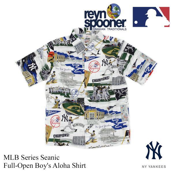 レインスプーナー REYN SPOONER 半袖 ボーイズアロハシャツ フルオープン シーニック メジャーリーグ公式 (MLB メンズ レディース 大谷翔平 グッズ エンゼルス)|jalana|09