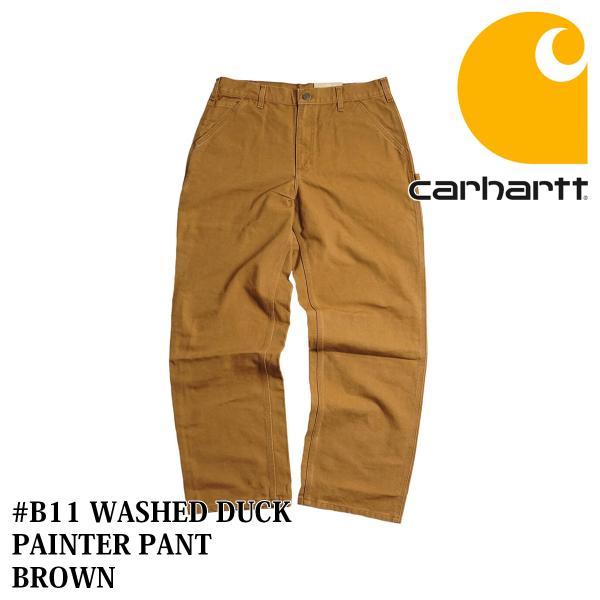 カーハート Carhartt B11 ウォッシュド ダック ペインターパンツ (WASHED DUCK WORK PANT ワークパンツ)|jalana|09