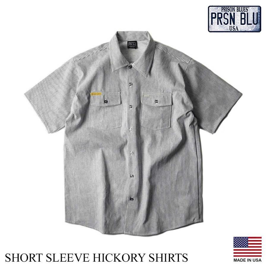 プリズンブルース PRISON BLUES 半袖 8オンス ヒッコリーストライプ ワークシャツ アメリカ製 米国製 HICKORY STRIPE WORK SHIRT jalana 12