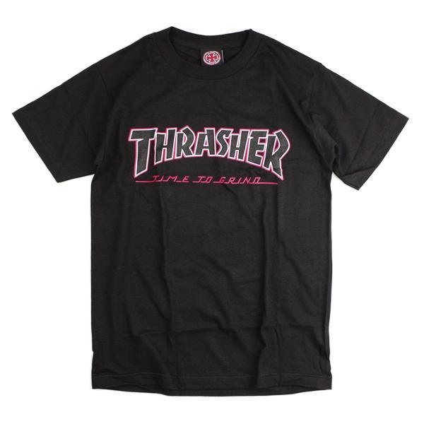 インディペンデント X スラッシャー コラボレート 半袖 Tシャツ タイムトゥグラインド (INDEPENDENT THRASHER Wネーム インディ)|jalana|08