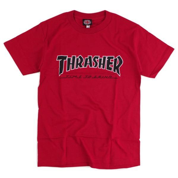 インディペンデント X スラッシャー コラボレート 半袖 Tシャツ タイムトゥグラインド (INDEPENDENT THRASHER Wネーム インディ)|jalana|09