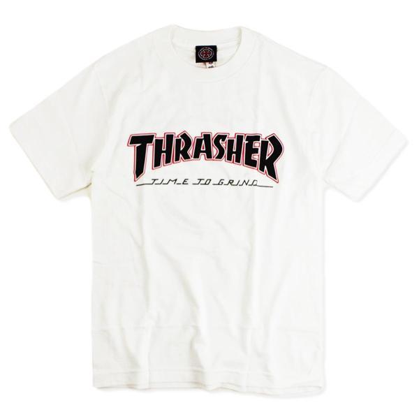 インディペンデント X スラッシャー コラボレート 半袖 Tシャツ タイムトゥグラインド (INDEPENDENT THRASHER Wネーム インディ)|jalana|07