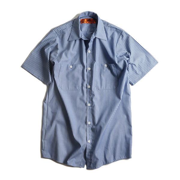 レッドキャップ REDKAP #SP20 半袖 ストライプ ワークシャツ  (INDUSTRIAL STRIPE S/S WORK SHIRT) jalana 09