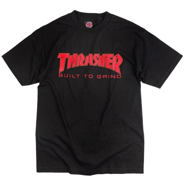 インディペンデント X スラッシャー コラボレート 半袖 Tシャツ ビルドトゥグラインド (BTG INDEPENDENT THRASHER Wネーム インディ)|jalana|08
