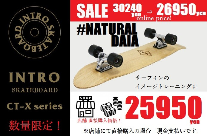 INTRO SKATEBOARDS (イントロ スケートボード) 34 NATURAL DAIA (ナチュラル ダイア) 今なら 数量限定セール 安