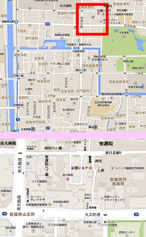 京都シルク株式会社 アクセスマップ