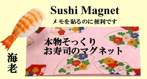 本物そっくり お寿司のマグネット 海老