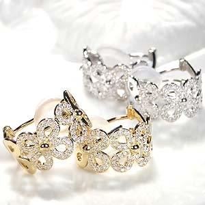 商品画像1 k18YG/WG【0.5ct】ダイヤモンド 2WAY ピアス・イヤリング