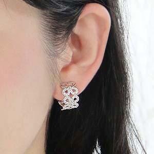 商品画像3 k18YG/WG【0.5ct】ダイヤモンド 2WAY ピアス・イヤリング
