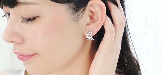 k18YG/WG【0.5ct】ダイヤモンド 2WAY ピアス・イヤリング