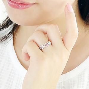 商品画像3 pt900 パパラチアサファイアダイヤモンドリング