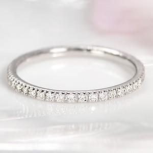 商品画像1 プラチナ ダイヤモンド フルエタニティリング