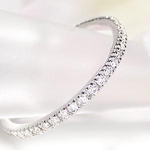 商品画像2 プラチナ ダイヤモンド フルエタニティリング