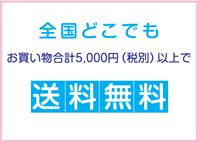 お買物合計5,000円(税別)以上で全国どこでも送料無料