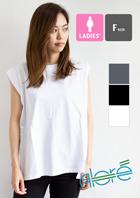 【Alore アローレ】ウィメンズ ノースリーブ Tシャツ 2121-202AL