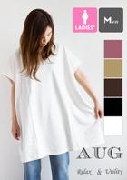【AUG オーグ】ウィメンズ ビッグ ミディ フレンチスリーブ Tシャツ 812331