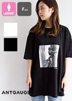 【 Antgauge アントゲージ 】 裾スリット フラワーフォト プリント 半袖Tシャツ AB945