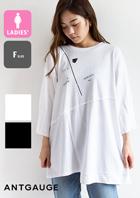 【 Antgauge アントゲージ 】 切り替え ピンタック袖 Tシャツ AB948