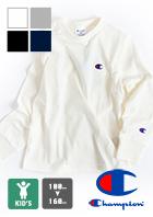 【Champion チャンピオン】キッズ ワンポイントL/S Tシャツ CK-T401