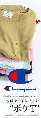 【Champion チャンピオン】ウィメンズ ポケットS/S Tシャツ CW-M321