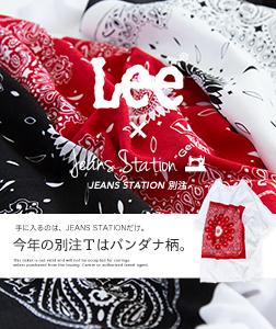 【Lee リー】JEANSSTATION別注 BANDANA PRINT TEE バンダナプリントS/S Tシャツ