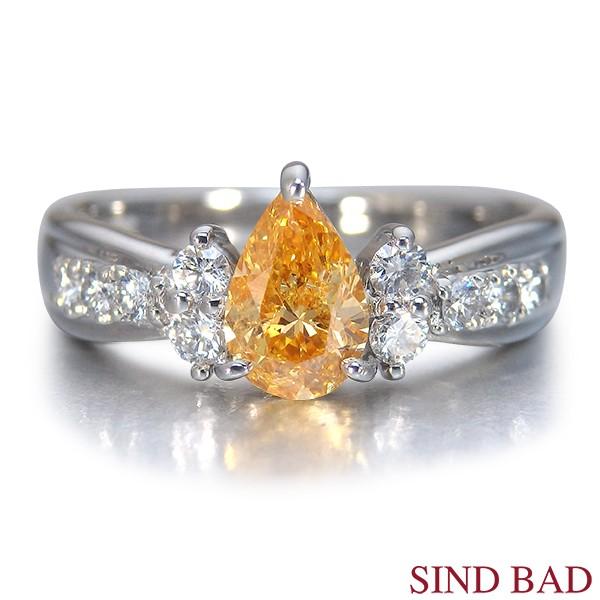 オレンジダイヤモンドリング