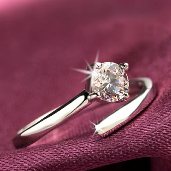 クーポンで半額 指輪 サイズフリー/一粒 リング/指輪/レディース/プラチナ仕上げ/シルバー925 cz 誕生日 ギフト プレゼント セール アクセサリー|jewelryaska|10