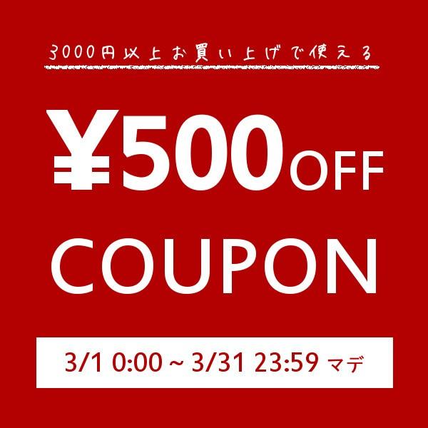 【500円OFF】3000円以上のお買い上げで使える特別クーポン【3/31まで】