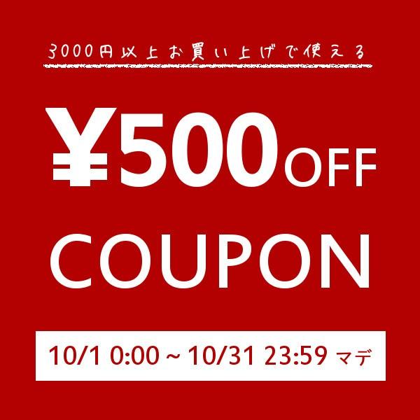【500円OFF】3000円以上のお買い上げで使える特別クーポン【10/31まで】