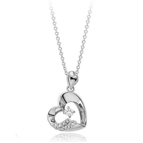 ネックレス レディース ハートスワロフスキー 可愛い プレゼント 金属アレルギー対応 jewelrysanmi 15