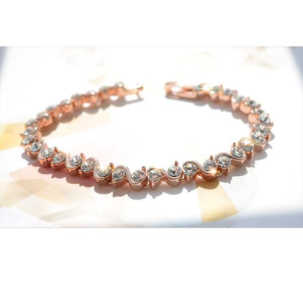 ブレスレット スワロフスキー社製クリスタル K18金RGP プレゼント jewelrysanmi 23