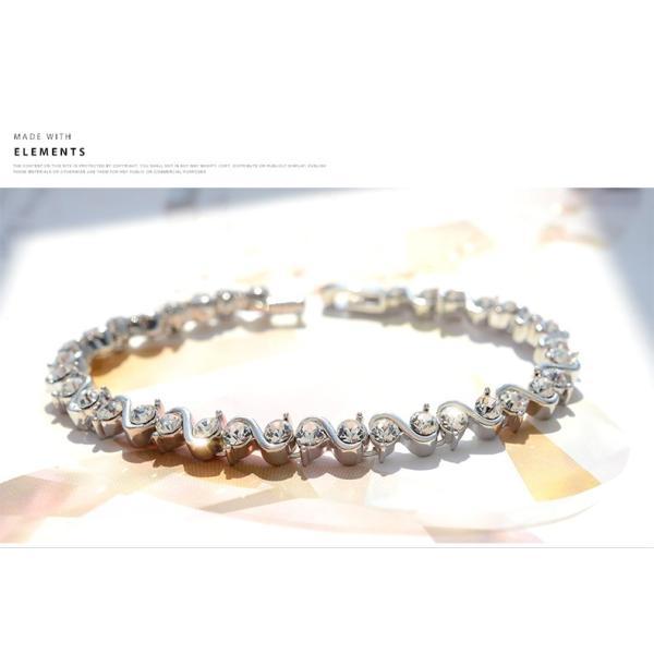 ブレスレット スワロフスキー社製クリスタル K18金RGP プレゼント jewelrysanmi 22