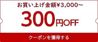 【期間限定300円OFFクーポン】