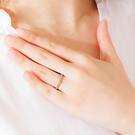 商品画像2 PT900希少石スフェーン・天然ダイヤモンドリング