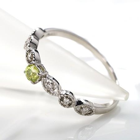 商品画像4 PT900希少石スフェーン・天然ダイヤモンドリング