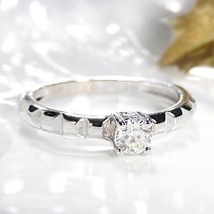 商品画像1 k18WG【0.3ctUP】一粒 ダイヤモンドリング