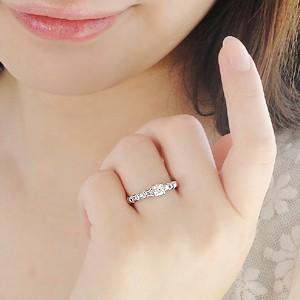 商品画像3 k18WG【0.3ctUP】一粒 ダイヤモンドリング