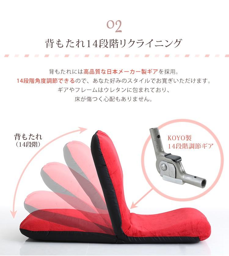 日本製ギア14段階リクライニング