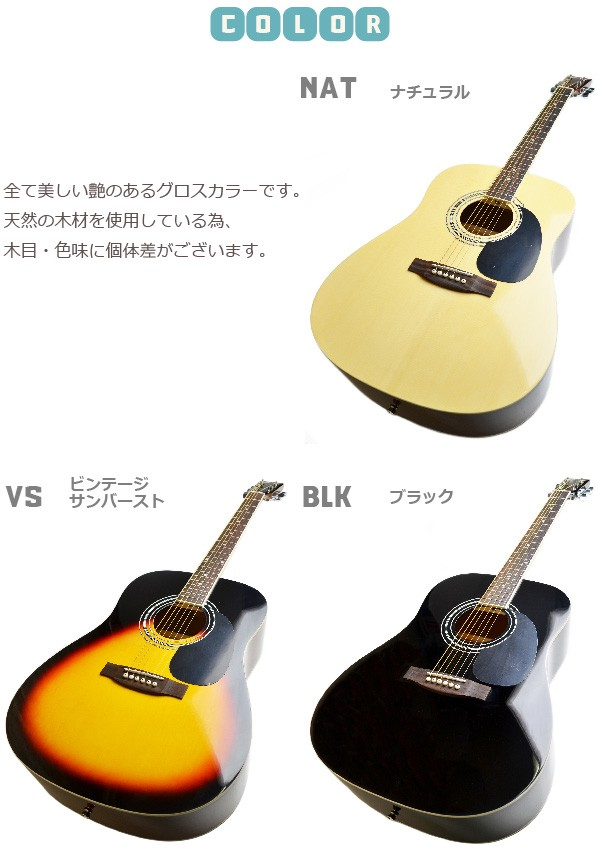 セピアクルーアコギ wG-10 カラー