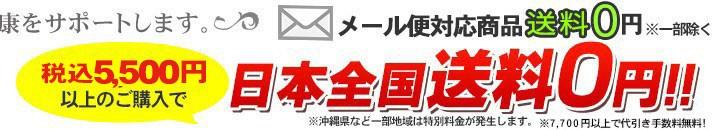 5000円(税別)以上で送料無料!