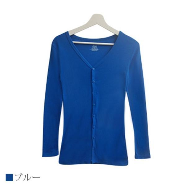 Tシャツ レディース Vネック ボタン コットン ロング 薄手 長袖 綿100% 無地 トップス シンプル UVカット JOCOSA 即納 8057 jocosa 14