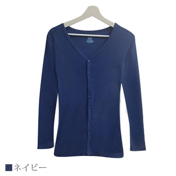 Tシャツ レディース Vネック ボタン コットン ロング 薄手 長袖 綿100% 無地 トップス シンプル UVカット JOCOSA 即納 8057 jocosa 16