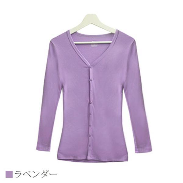 Tシャツ レディース Vネック ボタン コットン ロング 薄手 長袖 綿100% 無地 トップス シンプル UVカット JOCOSA 即納 8057 jocosa 17