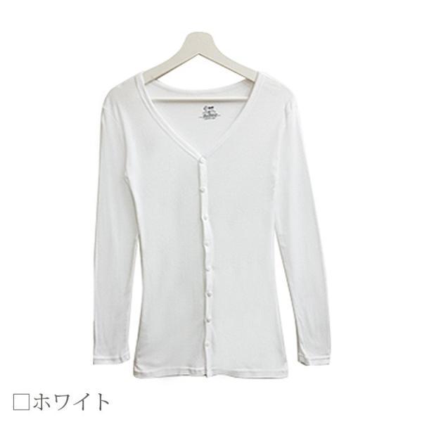 Tシャツ レディース Vネック ボタン コットン ロング 薄手 長袖 綿100% 無地 トップス シンプル UVカット JOCOSA 即納 8057 jocosa 10