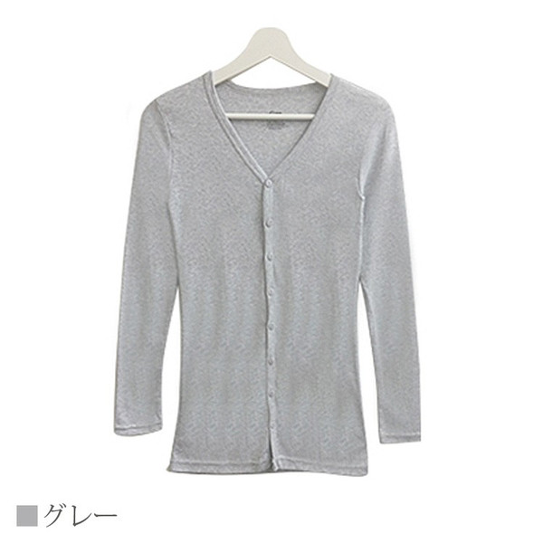 Tシャツ レディース Vネック ボタン コットン ロング 薄手 長袖 綿100% 無地 トップス シンプル UVカット JOCOSA 即納 8057 jocosa 11