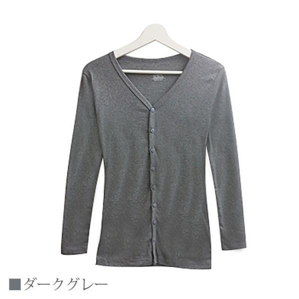 Tシャツ レディース Vネック ボタン コットン ロング 薄手 長袖 綿100% 無地 トップス シンプル UVカット JOCOSA 即納 8057 jocosa 12