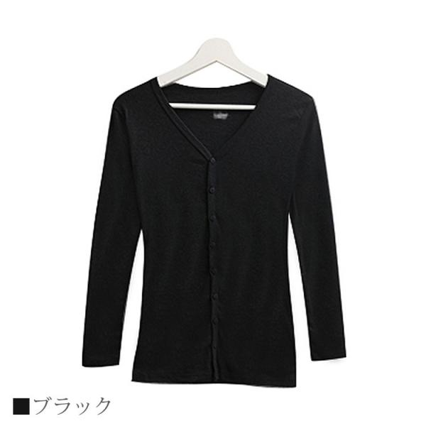 Tシャツ レディース Vネック ボタン コットン ロング 薄手 長袖 綿100% 無地 トップス シンプル UVカット JOCOSA 即納 8057 jocosa 13
