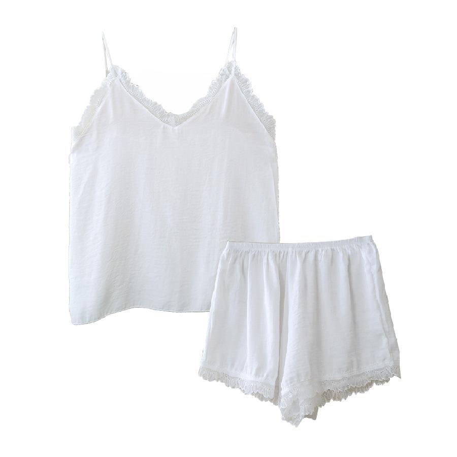 ルームウェア セットアップ ショートパンツ パジャマ 上下セット ホワイト 白 ピンク グレー ブラック 黒 ベージュ ライトブルー フリーサイズ JOCOSA 8427 jocosa 22