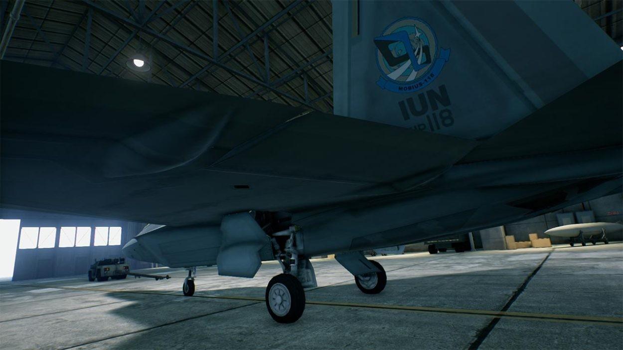 機体の側面